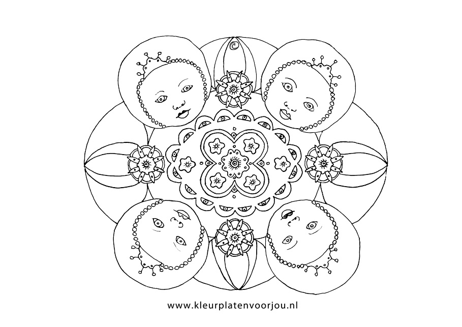 Hello Kitty Kleurplaat Verjaardag Baby Prinses Mandala Kleurplaten Voor Jou