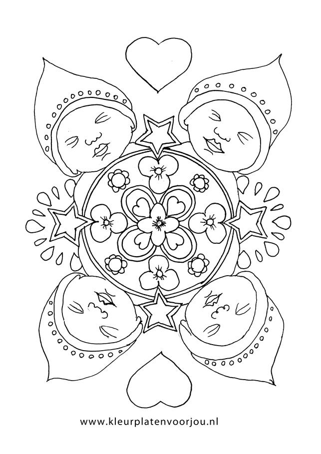 Baby Kleurplaten Mandala Kleurplaten Voor Jou