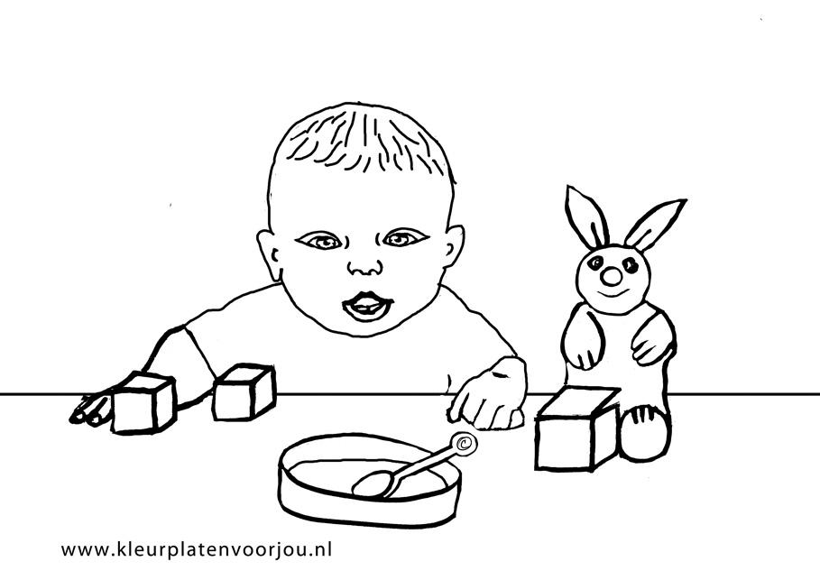 Magnifiek Baby kleurplaten - Kleurplaten voor jou #SM28