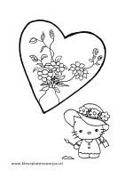 bloemen-kleurplaat-hart-kitty