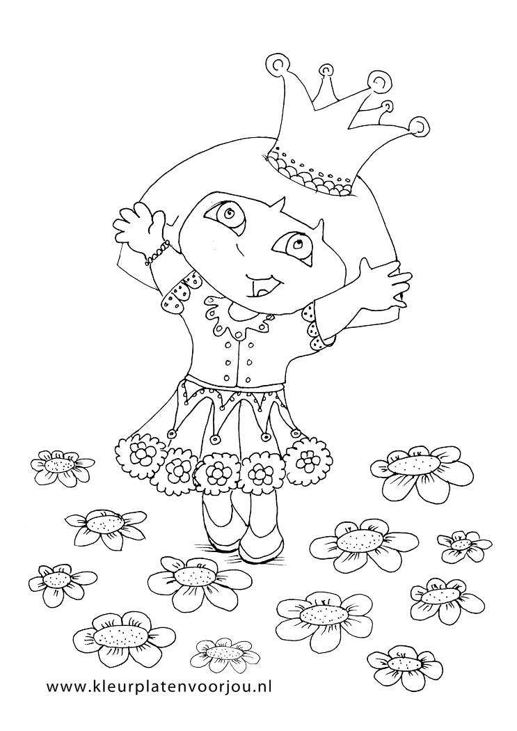 Paard Verjaardag Kleurplaten Dora Kleurplaat Prinses Kleurplaten Voor Jou