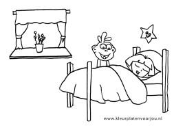 dora-kleurplaat-slapen