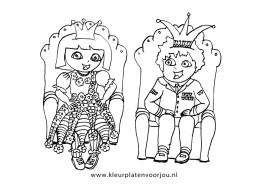 dora-kleurplaten-koning-en-koningin