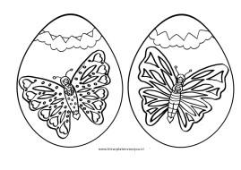 eieren kleurplaat vlinders