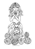 meisje-met-paas-eieren-kleurplaat