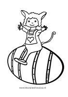 muis-op-paasei-kleurplaat