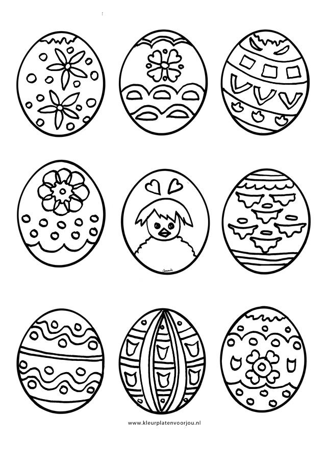paas eieren kleurplaat kleurplaten voor jou