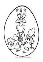 paasei-met-prinses-kleurplaat