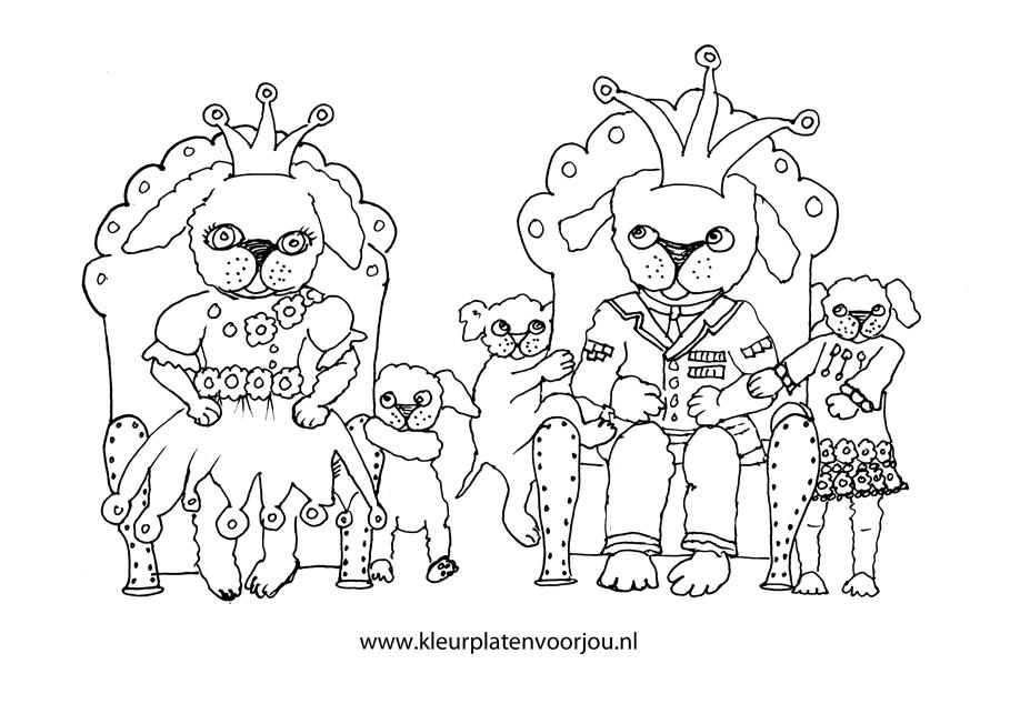 Kleurplaten Prinsessen Dieren.Kleurplaat Verjaardag Kroon Kroon Met 5 Balletjes Kinderen Knutselen
