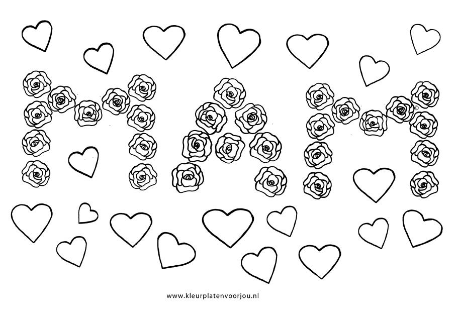 kleurplaten love hartjes