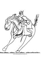 Kleurplaat Paard en de vogel