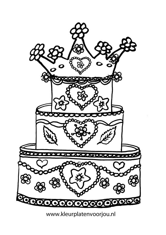 Koninklijke Verjaardagstaart Kleurplaten Voor Jou