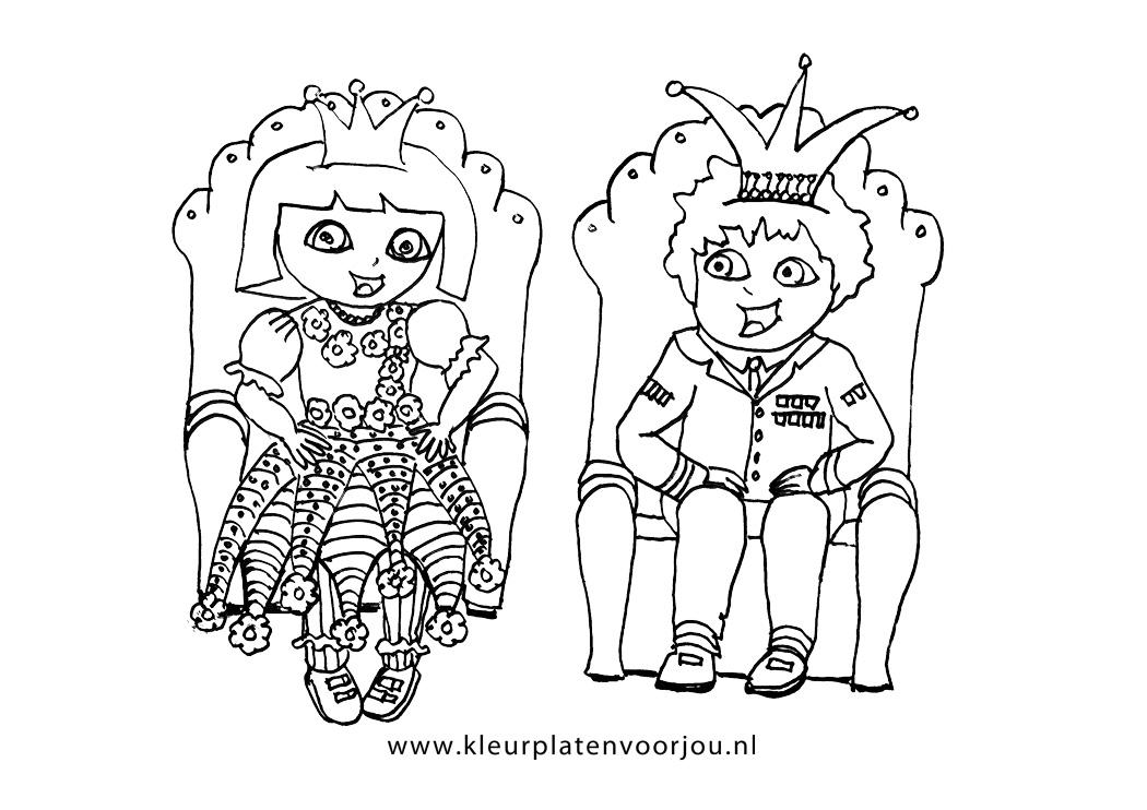 Kleurplaat Dora Verjaardag Dora Kleurplaten Koning En Koningin Kleurplaten Voor Jou