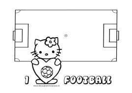 Hello Kitty Kleurplaat I Love Voetbal