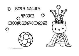 Hello Kitty Kleurplaat Voetbal