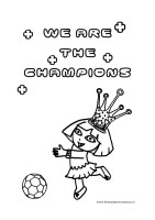 Kleurplaten Voetbal Dora