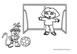 Voetbal Kleuplaat Dora
