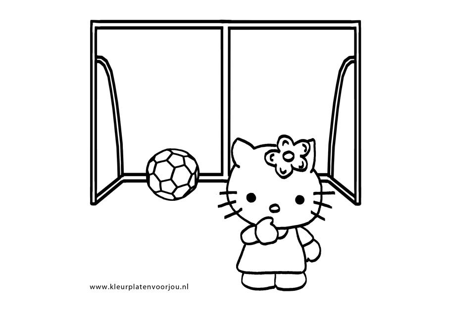 Voetbal Kleurplaat Hello Kitty Kleurplaten Voor Jou