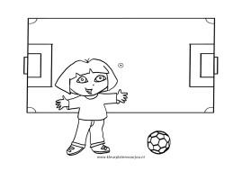 Voetbal Kleurplaten Dora