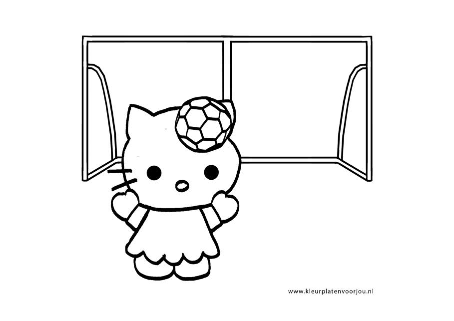 Voetbal Kleurplaten Ek.Voetbal Kleurplaten Hello Kitty Kleurplaten Voor Jou