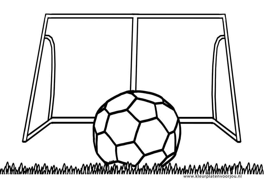 Voetbal Kleurplaten Ek.Kleurplaat Voetbal