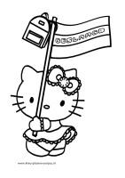 Geslaagd Kleurplaten Hello Kitty Vlag