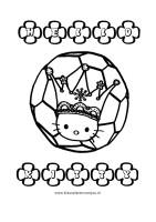 Hello Kitty Kleurplaat Voetballen