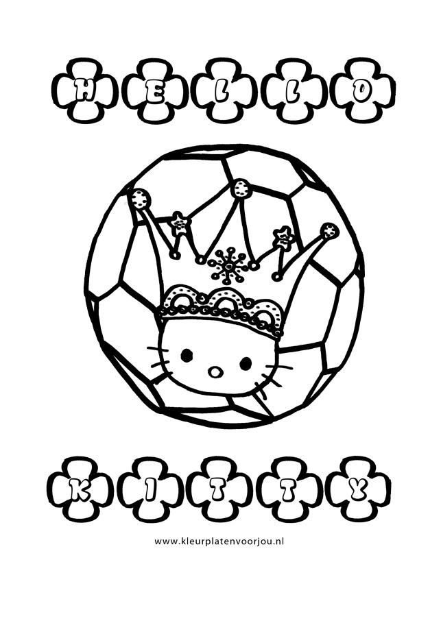 Baby Dieren Kleurplaat Hello Kitty Kleurplaat Voetballen Kleurplaten Voor Jou