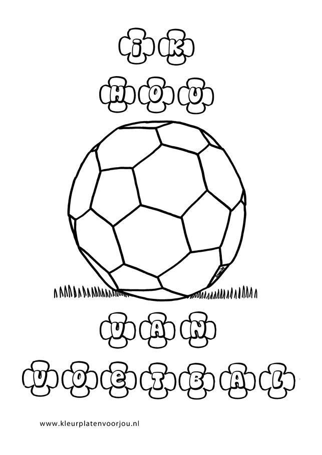 Ik Hou Van Voetbal Kleurplaten Kleurplaten Voor Jou