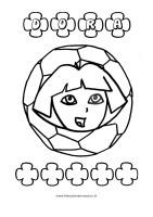 Kleuplaten Dora Voetbal