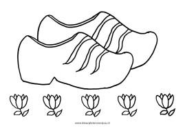 Bloemen Kleurplaat Klompen