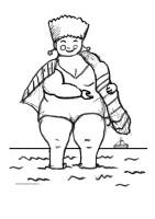 Vrouw In Zee Kleurplaat